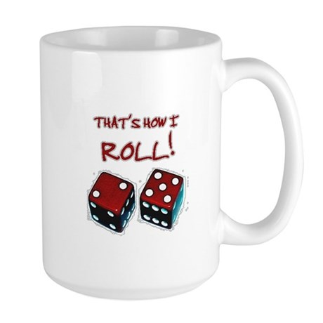 RED DICE HOW I ROLL Large Mug