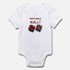 RED DICE HOW I ROLL Infant Bodysuit