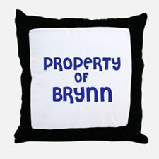 Property of Brynn Throw Pillow