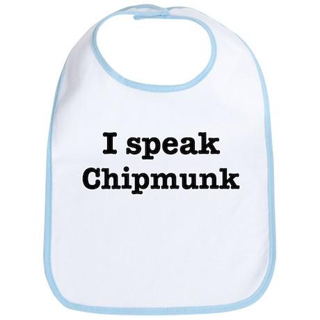 I speak Chipmunk Bib