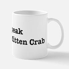 I speak Chinese Mitten Crab Mug
