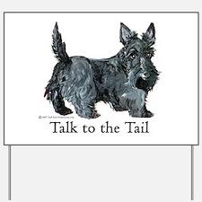 Scottish Terrier Attitude Yard Sign