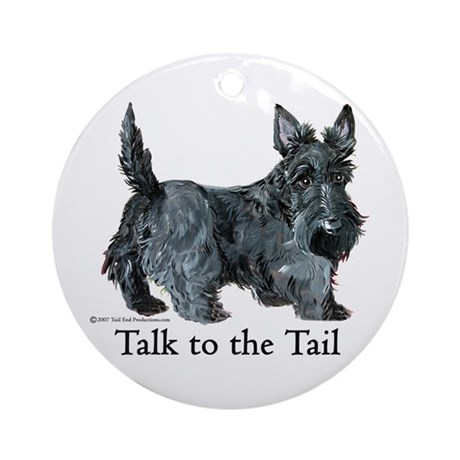 Scottish Terrier Attitude Ornament (Round)