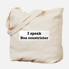 I speak Boa constrictor Tote Bag