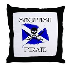 Scottish Pirate Throw Pillow
