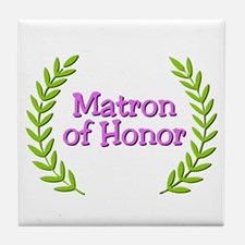 Matron of Honor (ferns) Tile Coaster
