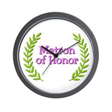 Matron of Honor (ferns) Wall Clock