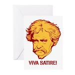 Twain Viva Satire Greeting Cards (Pk of 20)