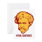 Twain Viva Satire Greeting Card
