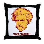 Twain Viva Satire Throw Pillow
