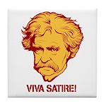 Twain Viva Satire Tile Coaster