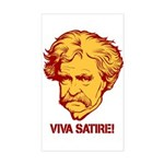 Twain Viva Satire Sticker (Rectangle)