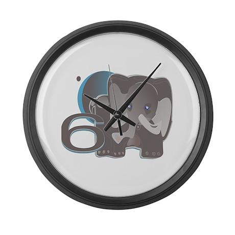 ELEPHANT6 cafepress.com/tikit Large Wall Clock