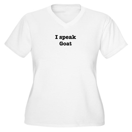 I speak Goat Women's Plus Size V-Neck T-Shirt