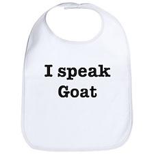 I speak Goat Bib