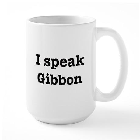 I speak Gibbon Large Mug