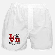 Love Havana Brown Cats Boxer Shorts