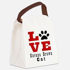 Love Havana Brown Cats Canvas Lunch Bag