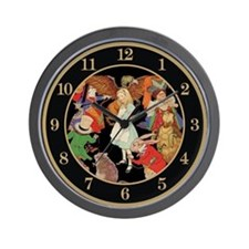 A ROUND ALICE Wall Clock