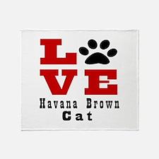 Love Havana Brown Cats Throw Blanket