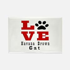 Love Havana Brown Cats Rectangle Magnet