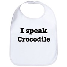 I speak Crocodile Bib