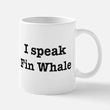 I speak Fin Whale Mug
