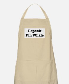 I speak Fin Whale BBQ Apron