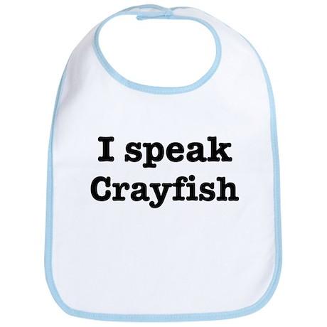 I speak Crayfish Bib