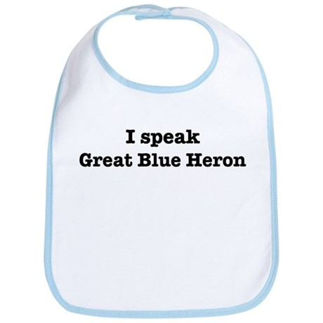 I speak Great Blue Heron Bib