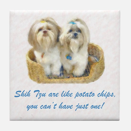 Shih Tzu Pop Art Ziggy & Nemo Tile Coaster