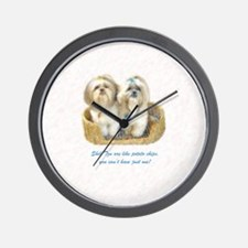 Shih Tzu Pop Art Ziggy & Nemo Wall Clock