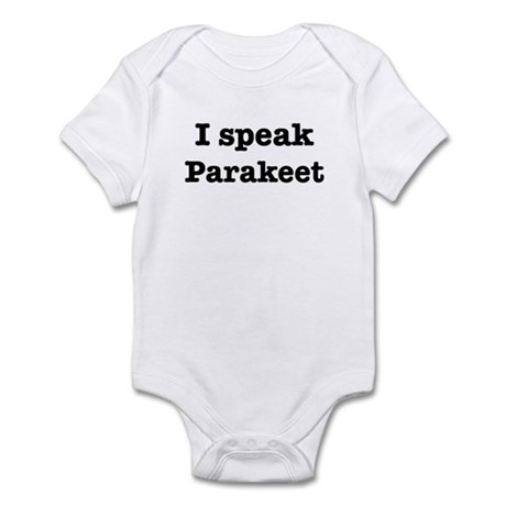 I speak Parakeet Infant Bodysuit