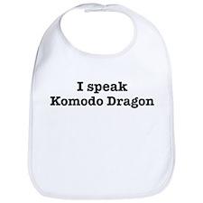 I speak Komodo Dragon Bib