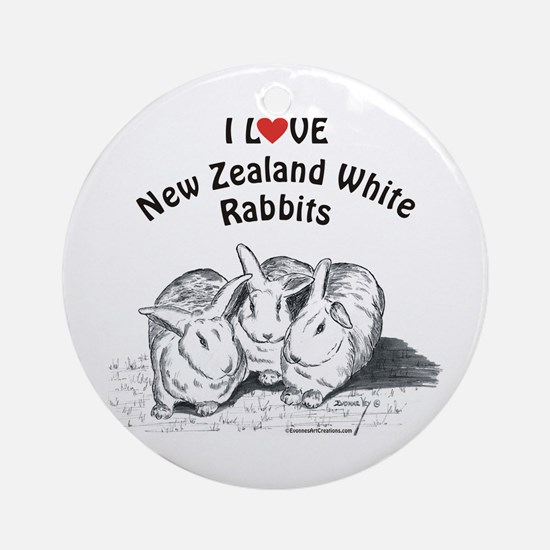 I Love NZW Rabbits Ornament (Round)