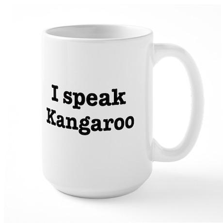 I speak Kangaroo Large Mug