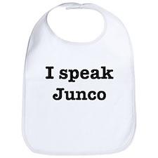 I speak Junco Bib