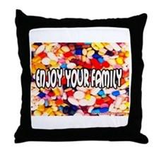 Enjoy Your Family Pills Throw Pillow