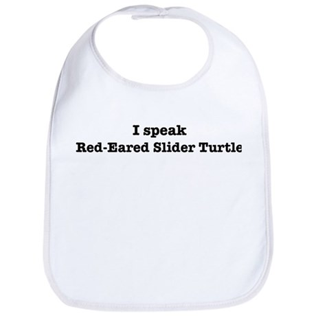 I speak Red-Eared Slider Turt Bib