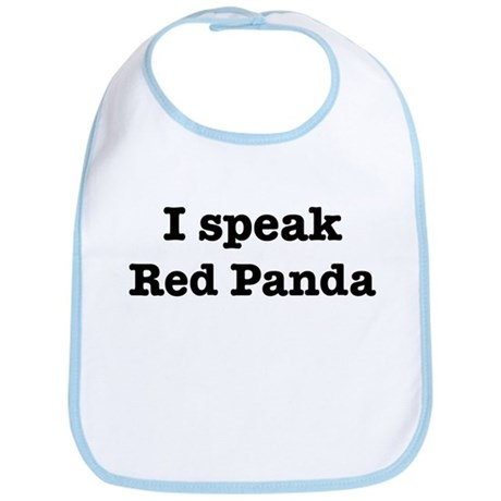 I speak Red Panda Bib