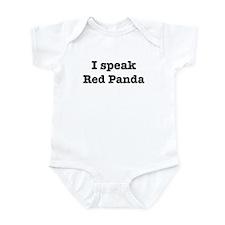 I speak Red Panda Infant Bodysuit