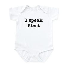 I speak Stoat Infant Bodysuit