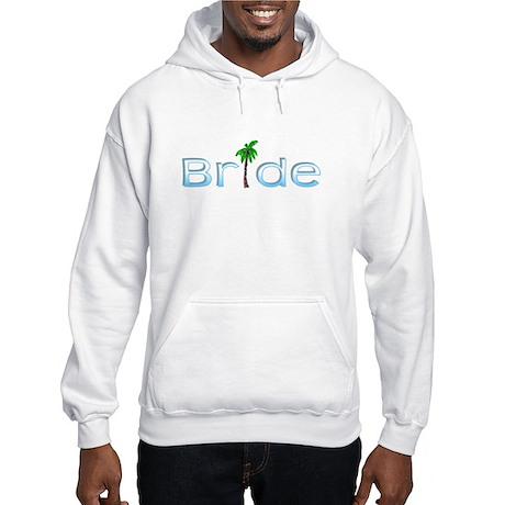 Bride (Palm, Baby Blue) Hooded Sweatshirt