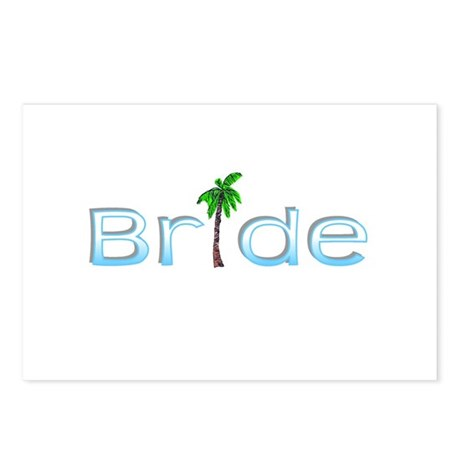 Bride (Palm, Baby Blue) Postcards (Package of 8)