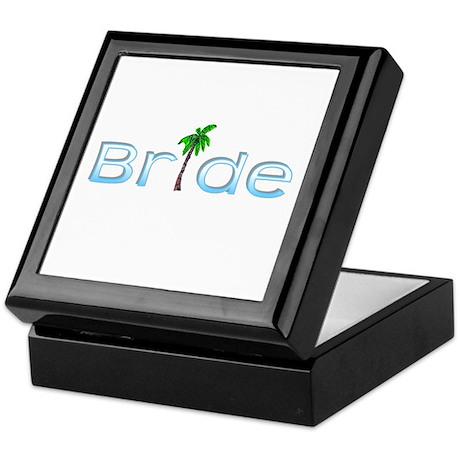 Bride (Palm, Baby Blue) Keepsake Box