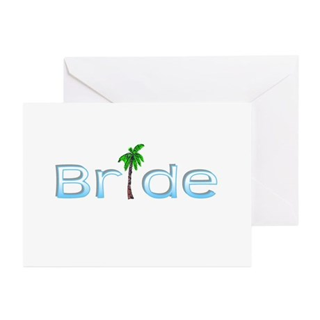 Bride (Palm, Baby Blue) Greeting Cards (Pk of 10)
