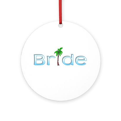 Bride (Palm, Baby Blue) Ornament (Round)