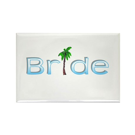 Bride (Palm, Baby Blue) Rectangle Magnet