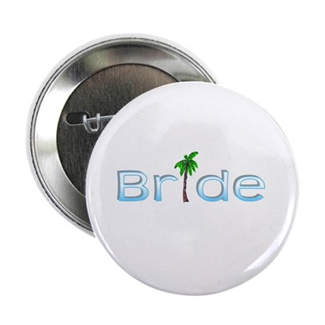 """Bride (Palm, Baby Blue) 2.25"""" Button (100 pack)"""