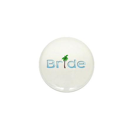 Bride (Palm, Baby Blue) Mini Button
